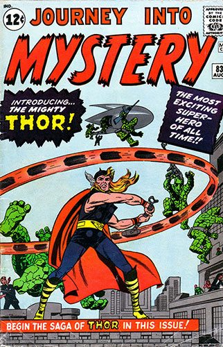 First Appearance of Thor - Journey into Mystery #83