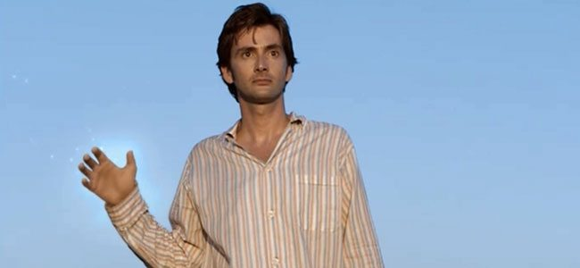 Tennant's debut as the Doctor in Christmas Invasion