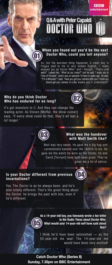 Dr. Who Peter Capaldi QnA