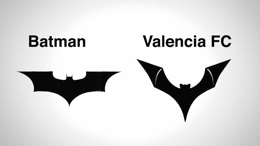 Batman Valencia logo Comparison