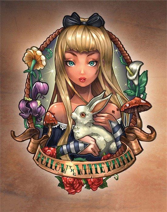 disney-princess-tattoo-pin-up-Alice