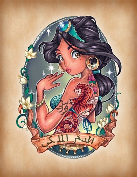 disney-princess-tattoo-pin-up-Jasmine
