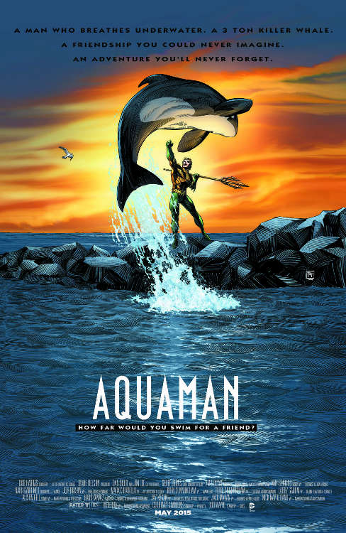 "Aquaman #40  by Richard Horie based on ""Free Willy."""