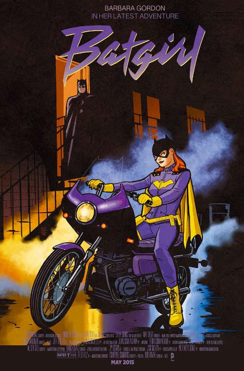 "Batgirl #40 by Cliff Chiang based on ""Purple Rain."""