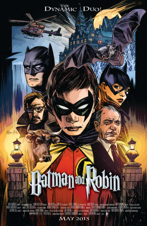 "Batman and Robin #40 by Tommy Lee Edwards based on ""Harry Potter and the Philosopher's Stone."""