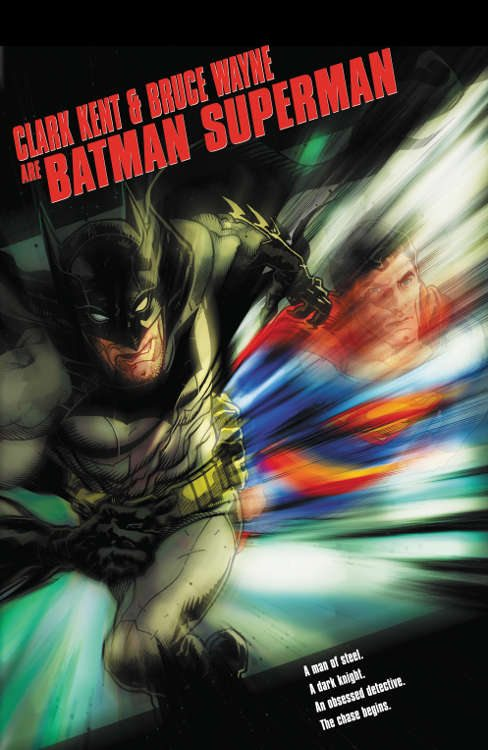 "Batman/Superman #20 by Tony Harris based on ""The Fugitive."""