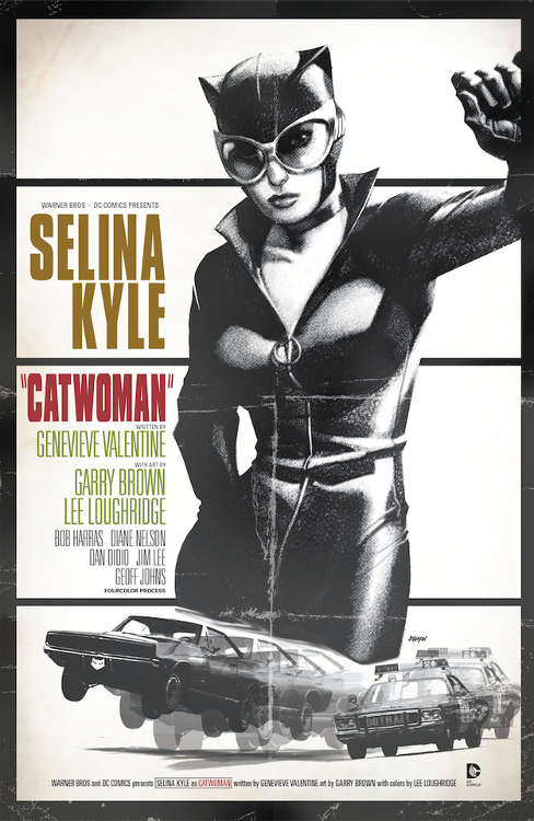"Catwoman #40 by Dave Johnson based on ""Bullitt."""