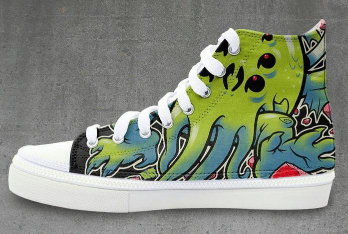 Cthulu Sneakers side