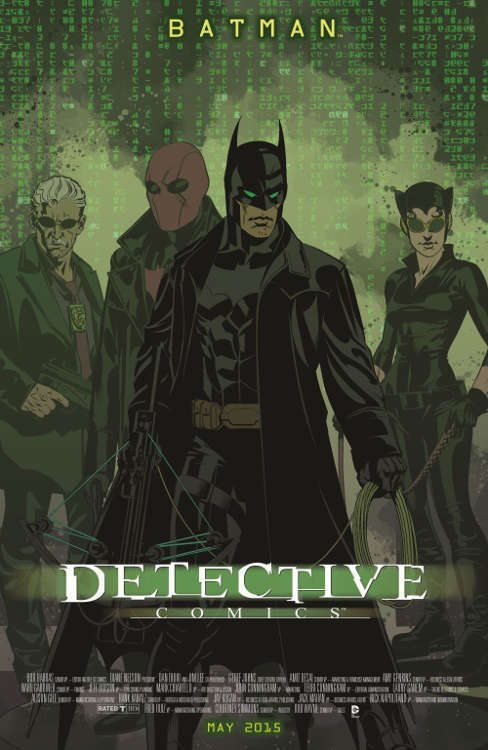 "Detective Comics #40 by Brian Stelfreeze based on ""The Matrix."""