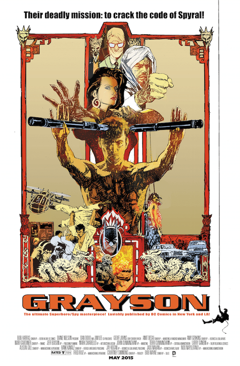 """Grayson #08 by Bill Sienkiewicz based on """"Enter the Dragon."""""""