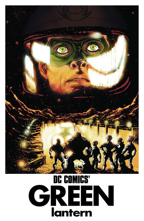 "Green Lantern #40 by Tony Harris based on ""2001: A Space Odyssey."""