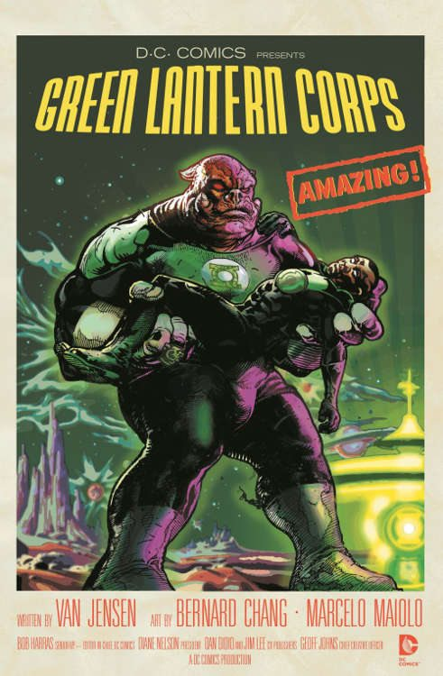 "Green Lantern Corps #40 by Tony Harris based on ""Forbidden Planet."""