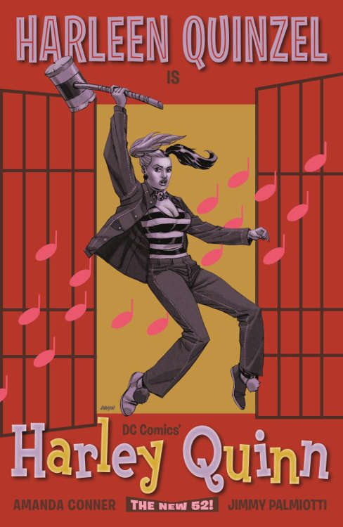"Harley Quinn #16 by Dave Johnson based on ""Jailhouse Rock."""
