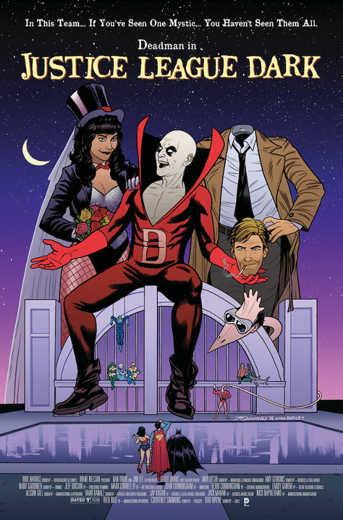 "Justice League Dark #40 by Joe Quinones based on ""Beetlejuice."""