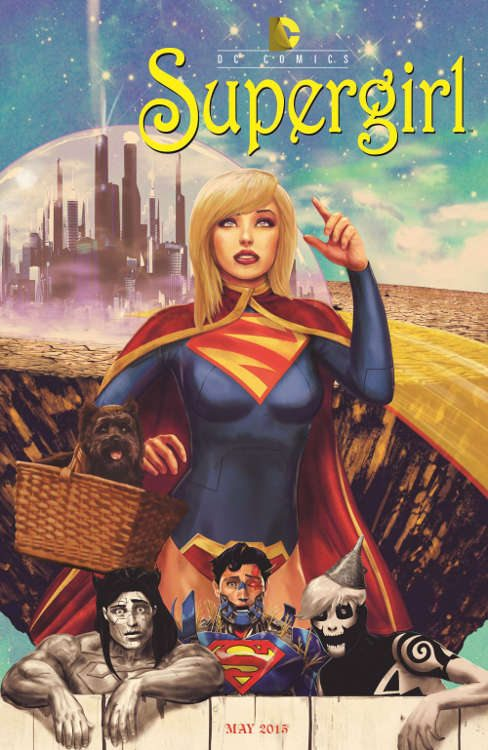 "Supergirl #40 by Marco D'Alphonso based on ""The Wizard of Oz."""