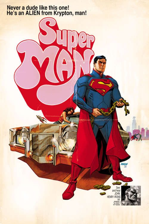 "Superman #40 by Dave Johnson based on ""Super Fly."""