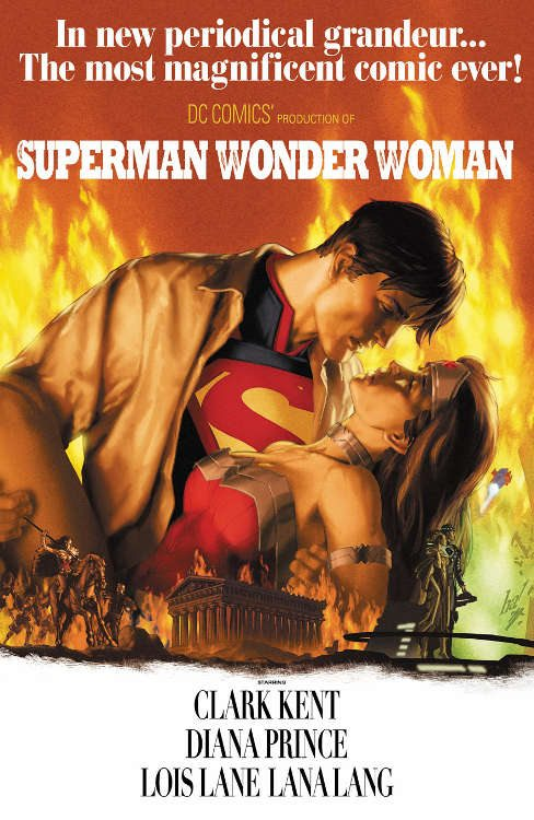 "Superman/WonderWoman by Gene Ha based on ""Gone With The Wind."""