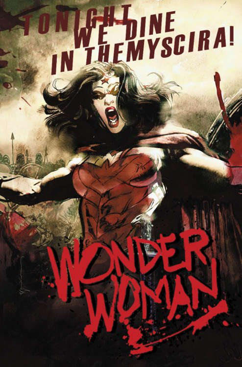 "Wonder Woman #40 by Bill Sienkiewicz based on ""300."""