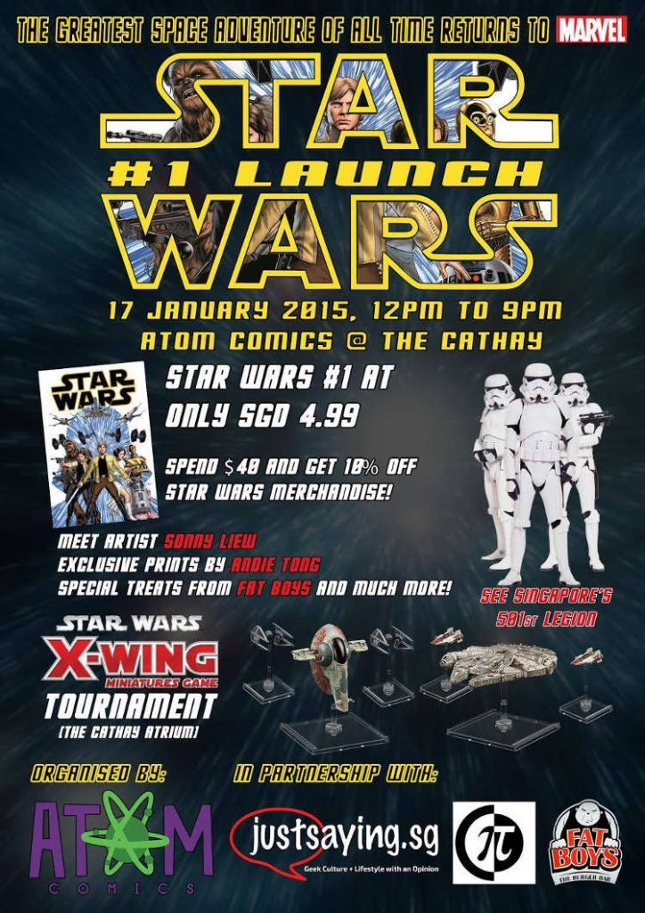 Marvel's Star Wars #1 Launch Event Poster