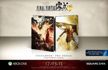 Final Fantasy Type-0 HD XBOX ONE steelbook preorder