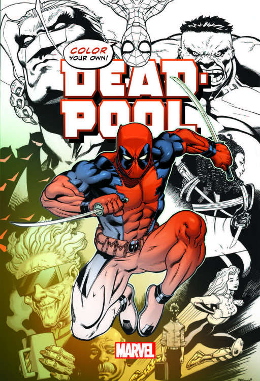 Color Your Own Deadpool Cover