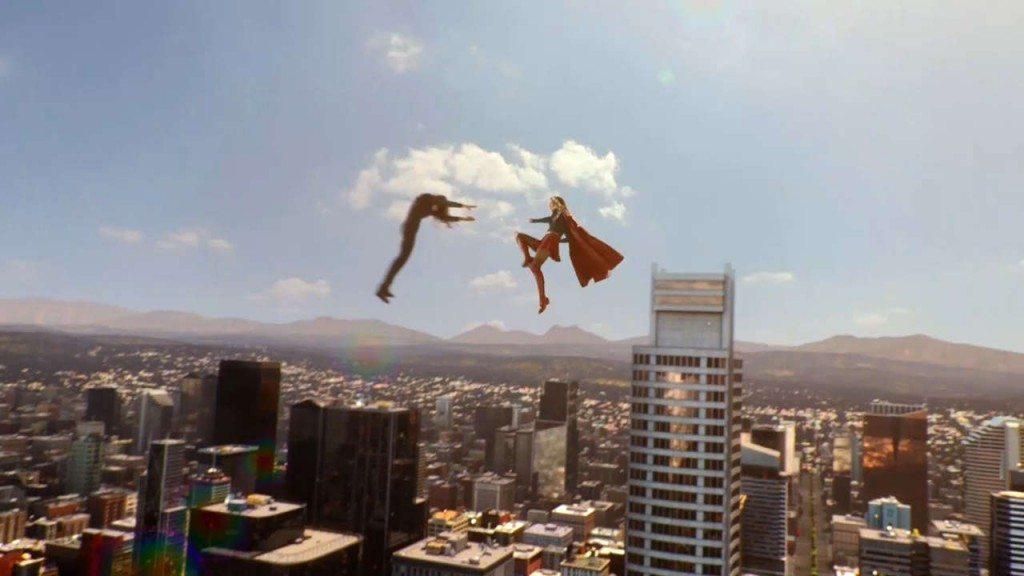 Supergirl Punching Astra