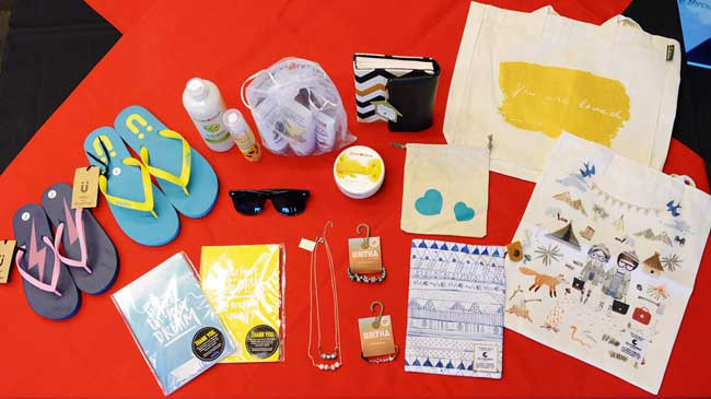 "A selection of products by the social enterprises under ""Asia for Good"""