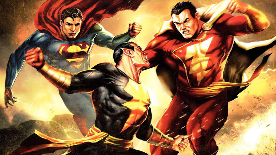 01) Black Adam Vs Superman & Captain Marvel