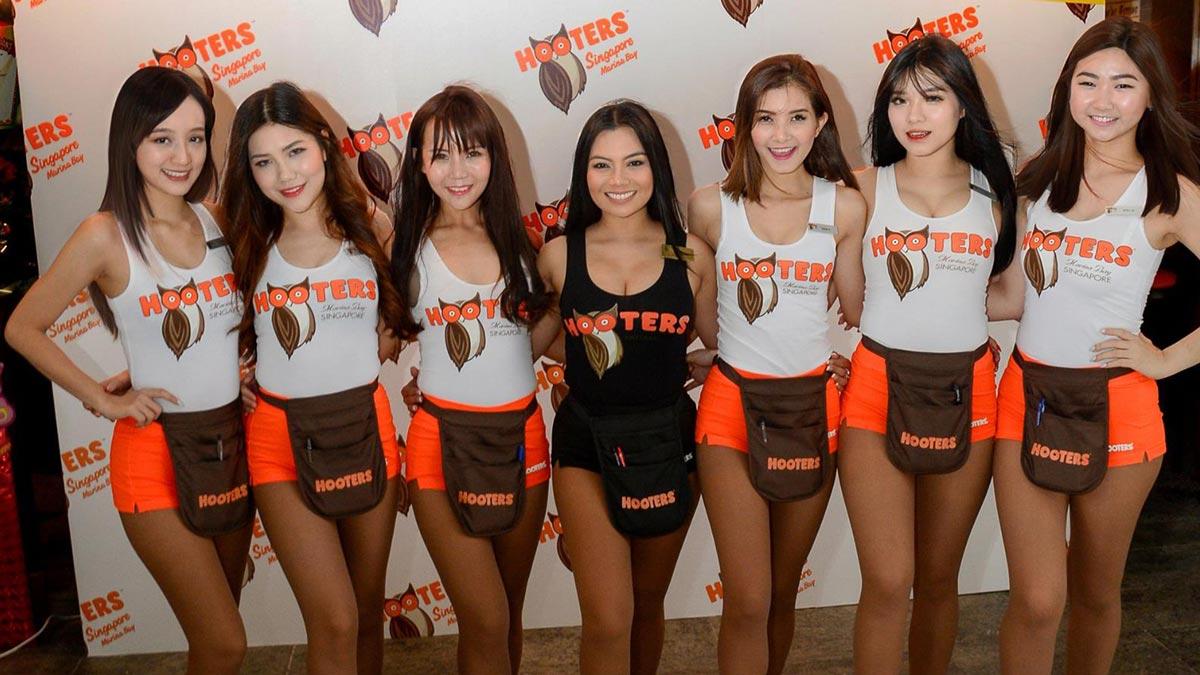 Asian hooters girls