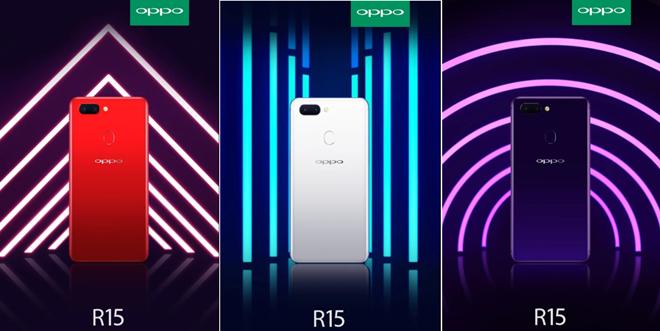 Oppo R15 Colours