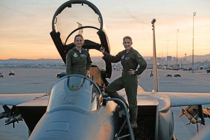 General Jeannie Leavitt with Brie Larson (Source: IMDb)