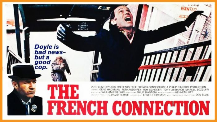 A poster image for The French Connection, a thriller movie released in 1971.