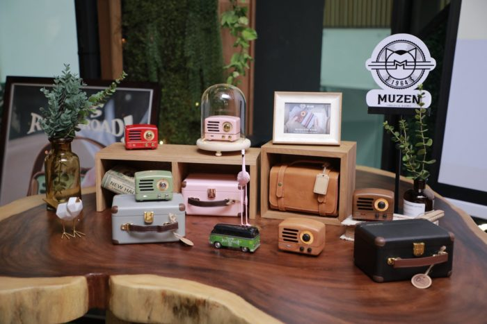 Muzen OTR portable speakers on display at their launch in Singapore (Source: Muzen Audio)