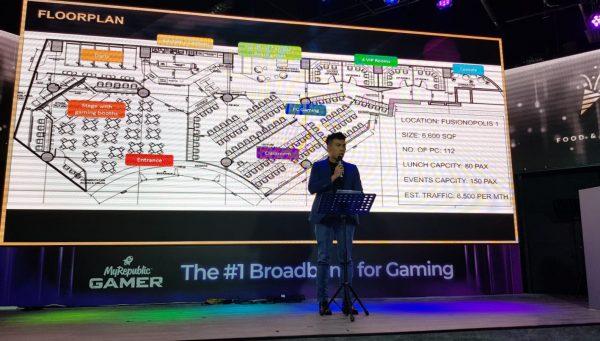 The floor plan of Bountie Arena.
