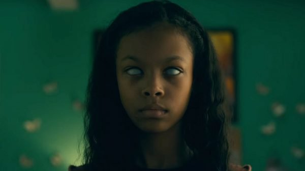 Abra of Doctor Sleep with her eyes whited out.