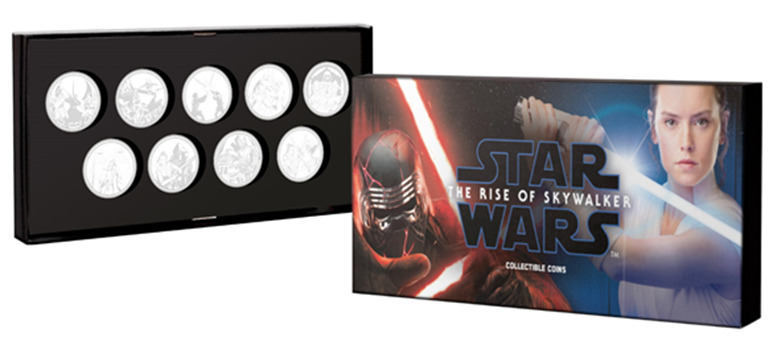 Star Wars The Rise of Skywalker Coin Collection