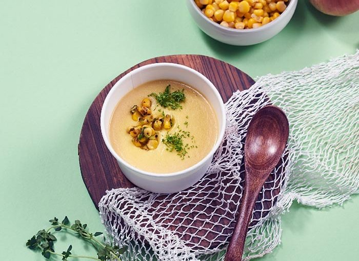 Corn soup at Zoey's Diner, reviewed by Justsaying.ASIA.