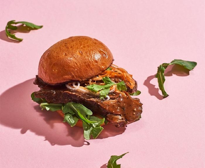 Australian Braised Short Rib burger at Zoey's Diner, as reviewed by Justsaying.ASIA.